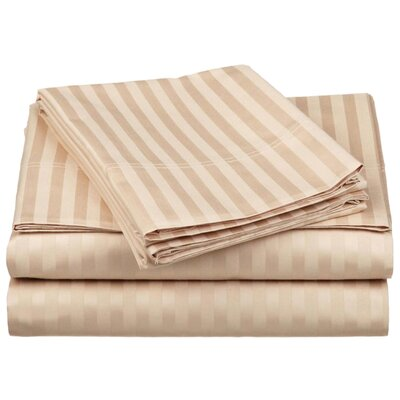 Simple Luxury 650 Thread Count Egyptian Cotton Stripe Sheet Set