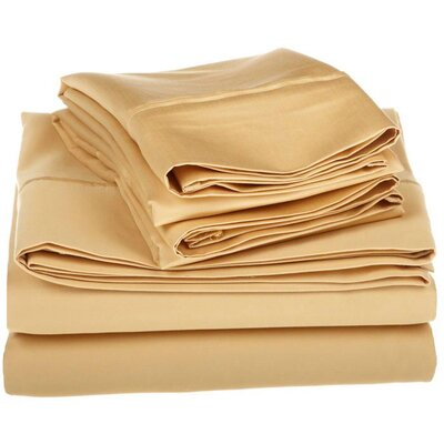 <strong>Simple Luxury</strong> 1200 Thread Count Egyptian Cotton Solid Sheet Set