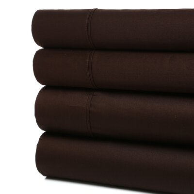 <strong>Simple Luxury</strong> 400 Thread Count Egyptian Cotton Solid Sheet Set