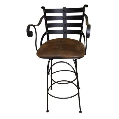 Rustic iron bar furniture wayfair Artisan home furniture bar stools