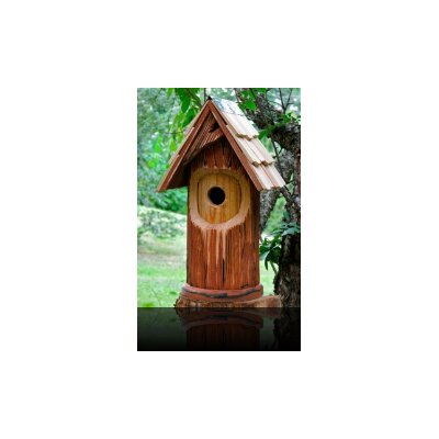 Heartwood The Woodcutter Bird House with Shingled Roof