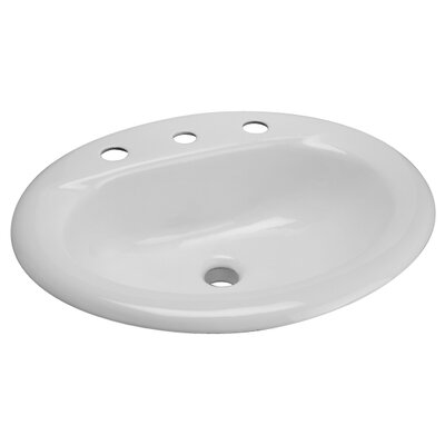 Cast Iron Drop-In Bathroom Sink - Z581