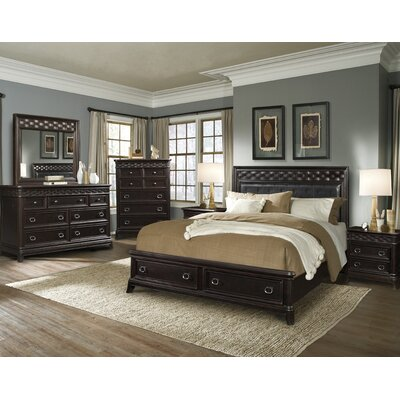 Park Avenue Upholstered Headboard Storage Bedroom Collection