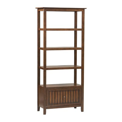 Linon Tasman Bookcase in Walnut