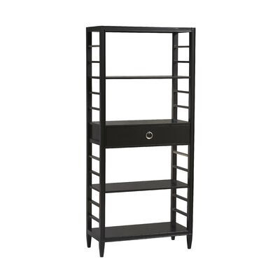 East End Avenue Bookcase in Black and Chrome