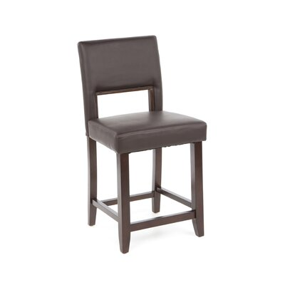 "Linon 24"" Vega Counter Stool in Espresso"