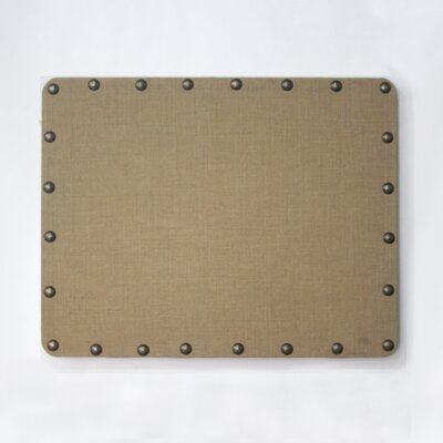 Linon BURLAP CORKBOARD WITH NAILHEAD TRIM