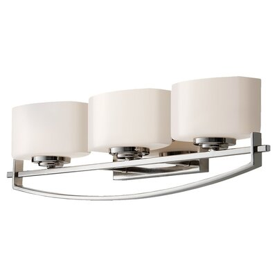 Feiss Bleeker Street Three Light Bath Vanity in Polished Nickel