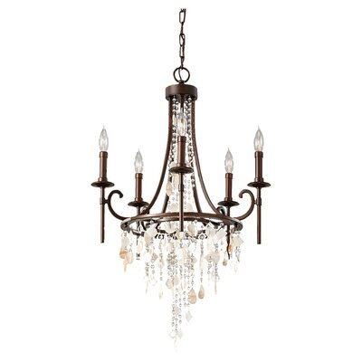 Feiss Cascade 5 Light Chandelier