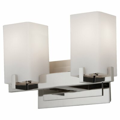 Feiss Riva Two Light Bath Vanity in Polished Nickel