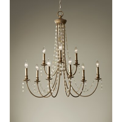 Feiss Aura 9 Light Chandelier