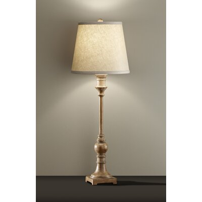 Feiss Alira One Light Buffet Lamp in Medium Aged Wood