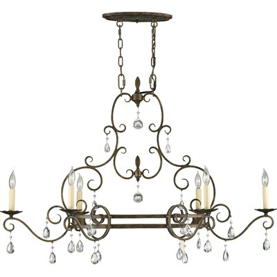 Feiss Chateau 6 Light Kitchen Island Pendant