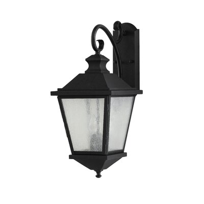 Feiss Woodside Hills  Outdoor Wall Lantern in Black