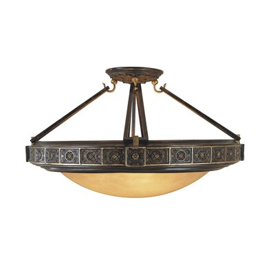 Feiss Medallion 4 Light Semi Flush Mount