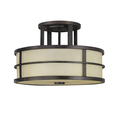 Feiss Fusion 1 Light Semi Flush Mount