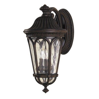 Feiss Regent Court Two Light Outdoor Wall Lantern in Walnut