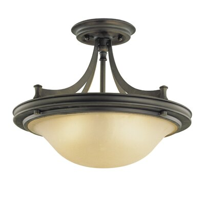 Feiss Pub 3 Light Semi Flush Mount
