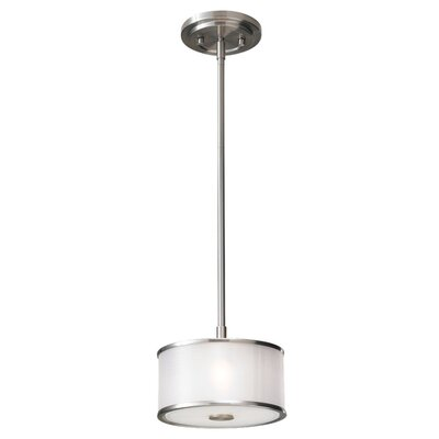 Feiss Casual Luxury 1 Light Mini Drum Pendant
