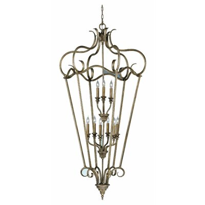 Feiss Smokey Topaz 9 Light Cage Foyer Pendant