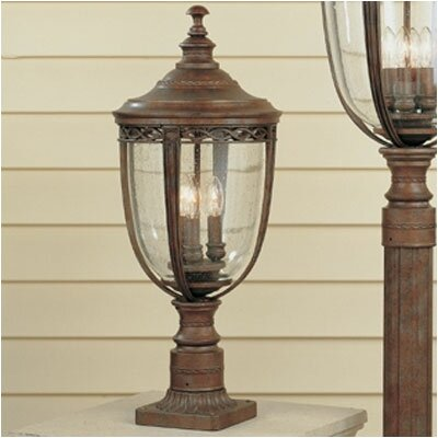 Feiss English Bridle 3 Light Post Lantern
