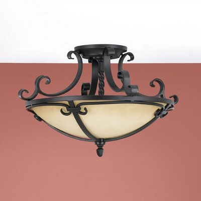 Feiss Colonial Manor Semi Flush Mount