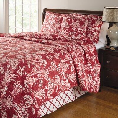 Greenland Home Fashions Mandarin 4 Piece Quilt Set