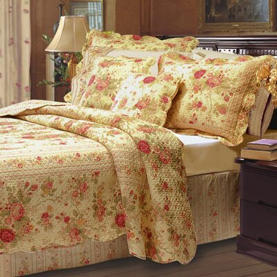 Greenland Home Fashions Antique Rose Piece Quilt Collection