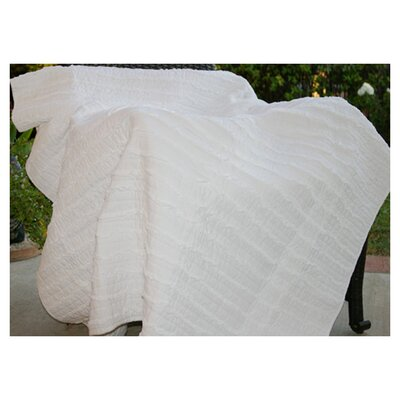 Greenland Home Fashions Cotton Ruffled Throw