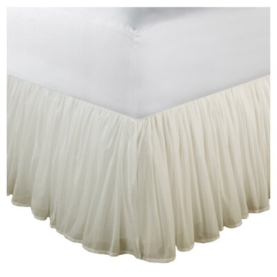 "Greenland Home Fashions Cotton Voile Bed Skirt 15"" Drop"