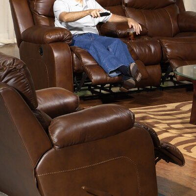 Catnapper Dallas Leather Chaise   Recliner