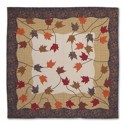 Patch Magic Autumn Leaves Cotton Shower Curtain