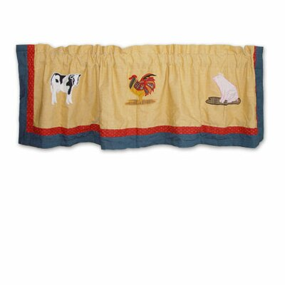 Patch Magic Barnyard Cotton Rod Pocket Tailored Curtain Valance