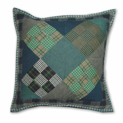 Chambray Nine Patch Toss Pillow