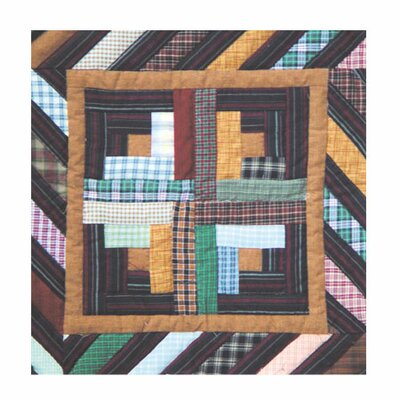 Patch Magic Dusty Diamond Log Cabin Toss Pillow