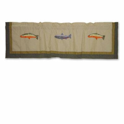 Patch Magic Fly Fishing Cotton Curtain Valance