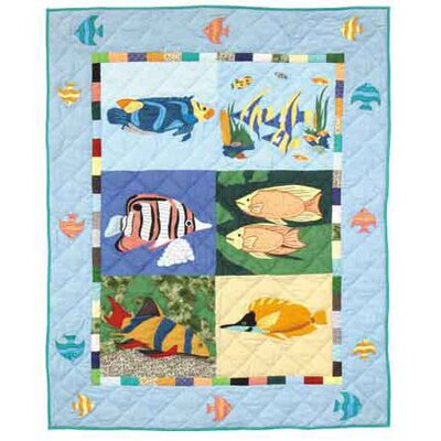 Ocean Schools 6 Piece Crib Bedding Set