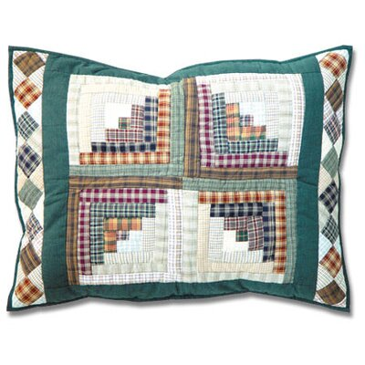 Patch Magic Peasant Log Cabin Standard Pillow Sham
