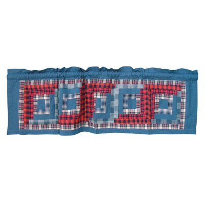 Patch Magic Red Log Cabin Curtain Valance