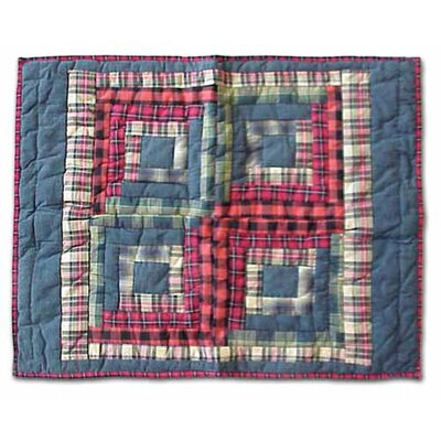 Patch Magic Red Log Cabin Standard Pillow Sham