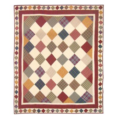 Rustic Cabin Cotton Throw Quilt