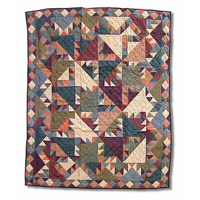 Patch Magic Sun Spirit Cotton Throw Quilt