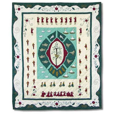 Patch Magic Twelve Days of Christmas Cotton Throw Quilt