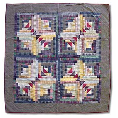 Patch Magic Wild Goose Log Cabin Cotton Throw Quilt