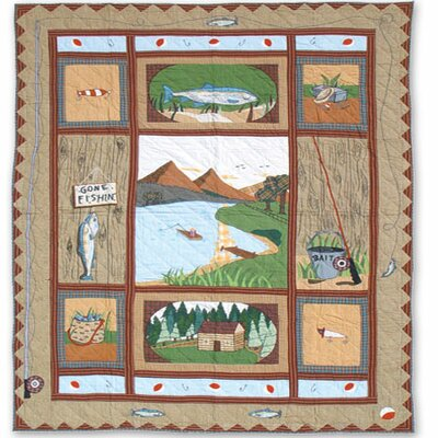 Gone Fishing King Quilt