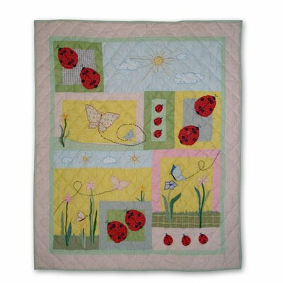 Patch Magic Ladybug Cotton Throw Quilt