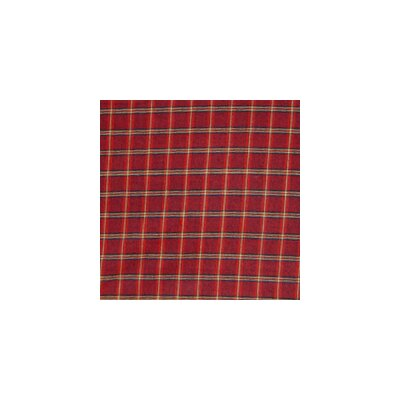 Red - Rustic Plaid and Black Lines Euro Sham