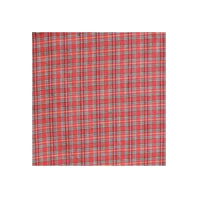Red Plaid and Green Black Lines Toss Pillow