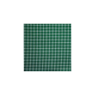 Green and White Plaid Toss Pillow