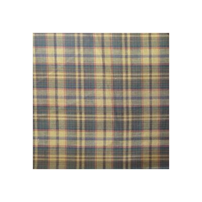Golden Brown Plaid Window Curtain